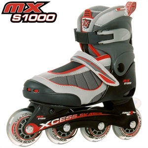 Xcess MX S1000 Adjustable In-Line Skates Red - Momma Trucker Skates