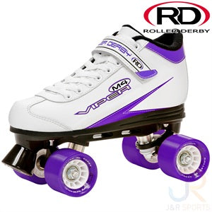 Roller Derby Viper White & Purple - Momma Trucker Skates