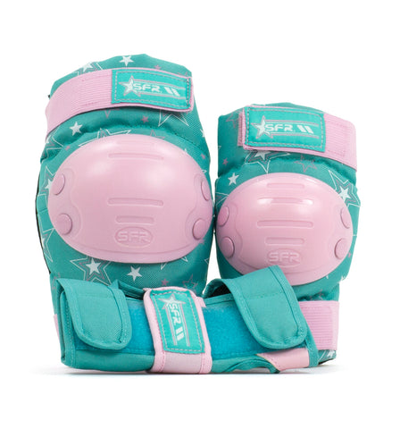 SFR Star Triple Pad Set - Pink & Green - Momma Trucker Skates