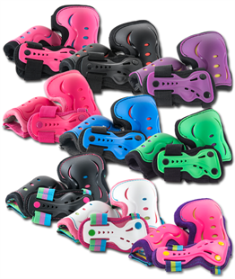SFR Essentials Protection Triple Pad Set - All Colours! - Momma Trucker Skates