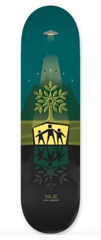 Alien Workshop Yaje Shelter Skateboard Deck - Green or Purple - Momma Trucker Skates