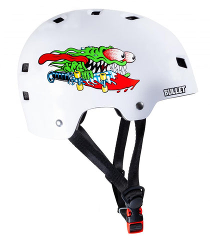 Bullet x Santa Cruz Helmet Slasher Youth 49-54cm - Momma Trucker Skates