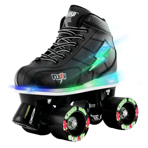 Crazy Skates Flash Roller Skates Black 2018 - Momma Trucker Skates
