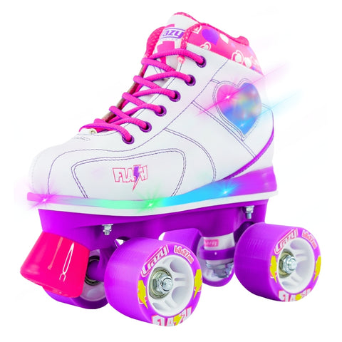 Crazy Skates Flash Roller Skates White 2018 - Momma Trucker Skates