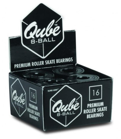 Qube Bearings 8-Ball (pack of 16) - Momma Trucker Skates