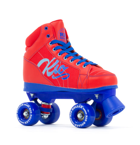 Rio Roller Lumina Quad Roller Skates - Red & Blue - Momma Trucker Skates
