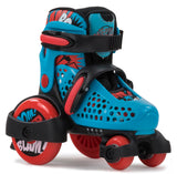 SFR Stomper Adjustable Skates Blue & Red - Momma Trucker Skates