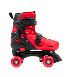 SFR Nebula Roller Skates, Protection & Bag Skate Package Gift Set - Red