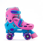 SFR Hurricane III Adjustable Quad Skates - Pink & Blue - Momma Trucker Skates