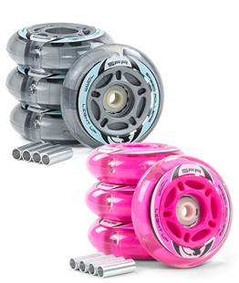 SFR Light up Inline Wheels - 3 Sizes & All Colours! - Momma Trucker Skates