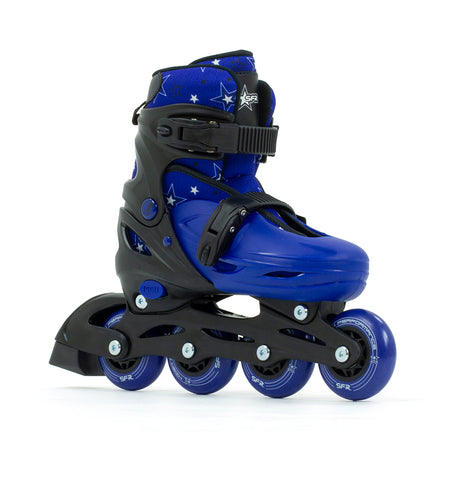 SFR Plasma Adjustable Inline Skates - Blue - Momma Trucker Skates