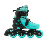 SFR Plasma Adjustable Children's Inline Skates - Teal Beginner Skate Package - inc Pads, Helmet & Bag - Momma Trucker Skates