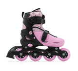 SFR Plasma Adjustable Children's Inline Skates - Pink Beginner Skate Package - inc Pads, Helmet & Bag - Momma Trucker Skates