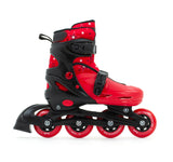 SFR Plasma Adjustable Children's Inline Skates - Red Beginner Skate Package - inc Pads, Helmet & Bag - Momma Trucker Skates