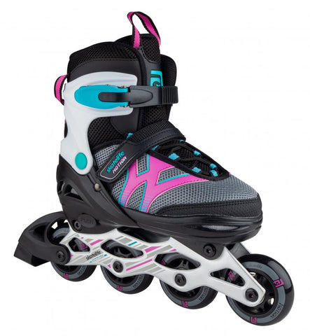 Skatelife Inline Skates Motion Adjustable - Black &  Pink - Momma Trucker Skates