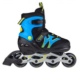 Skatelife Inline Skates Motion Adjustable - Black &  Blue - Momma Trucker Skates