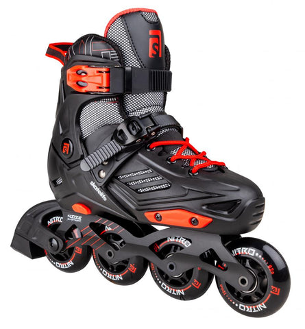 Skatelife Inline Skates Nitro Freestyle Adjustable - Red/Black - Momma Trucker Skates