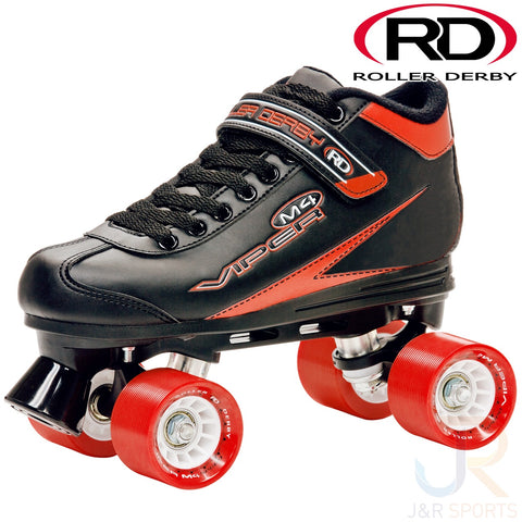 Roller Derby Viper Black & Red - Momma Trucker Skates