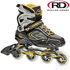 Roller Derby Aerio Q-80 In-Line Skates Grey & Yellow - Momma Trucker Skates
