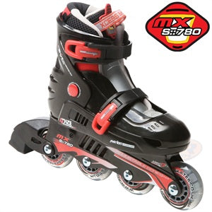 Xcess MX S780 Adjustable In-Line Skates Black & Red - Momma Trucker Skates