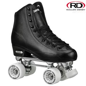 Roller Derby Stratos High Top Quad Roller Skates - Black - Momma Trucker Skates