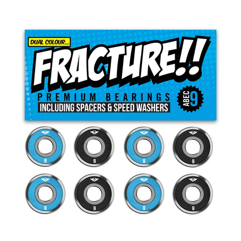 Fracture Premium Abec 9 Blue & Black Bearings