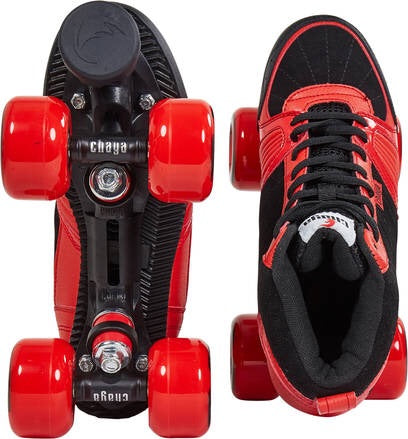 Chaya Jump Red & Black Quad Roller Skates - Momma Trucker Skates