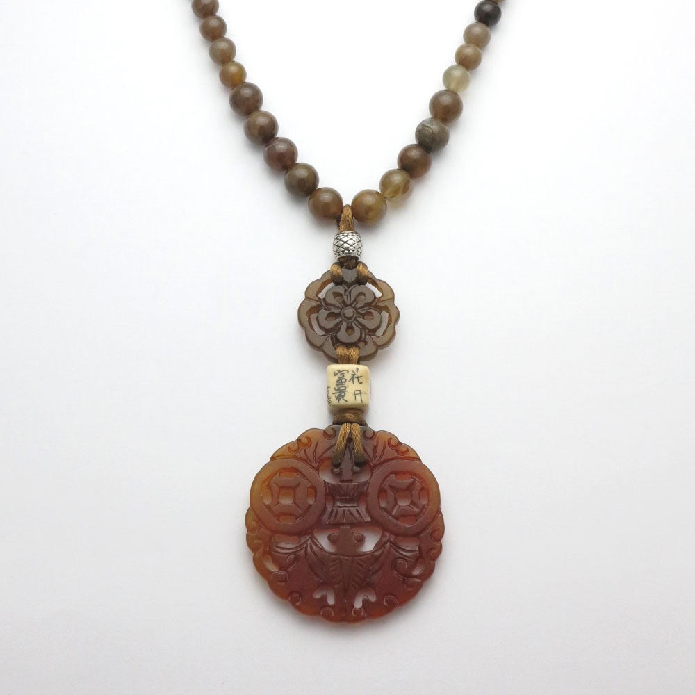Chinese Jade Bat Necklace - RetroJade Jewelry