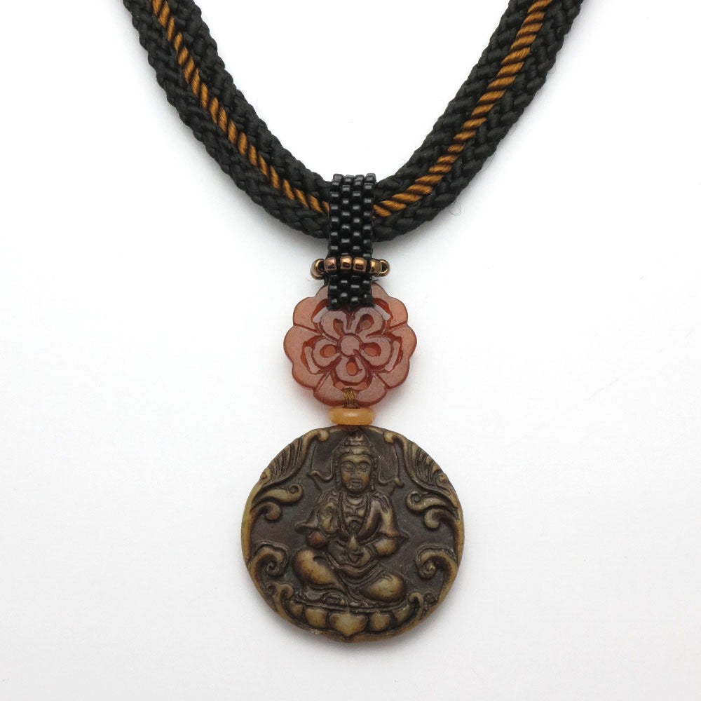 Chinese Jade Kwan Yin/Compassion Goddess/ Empath Pendant Necklace - RetroJade Jewelry