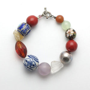 Good Luck Charm Mixed Stone Bracelet - RetroJade Jewelry