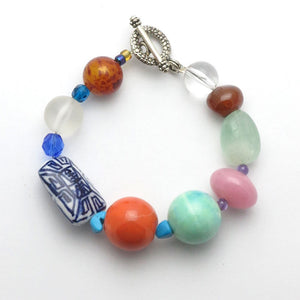 Mixed Gemstone Bracelet - RetroJade Jewelry