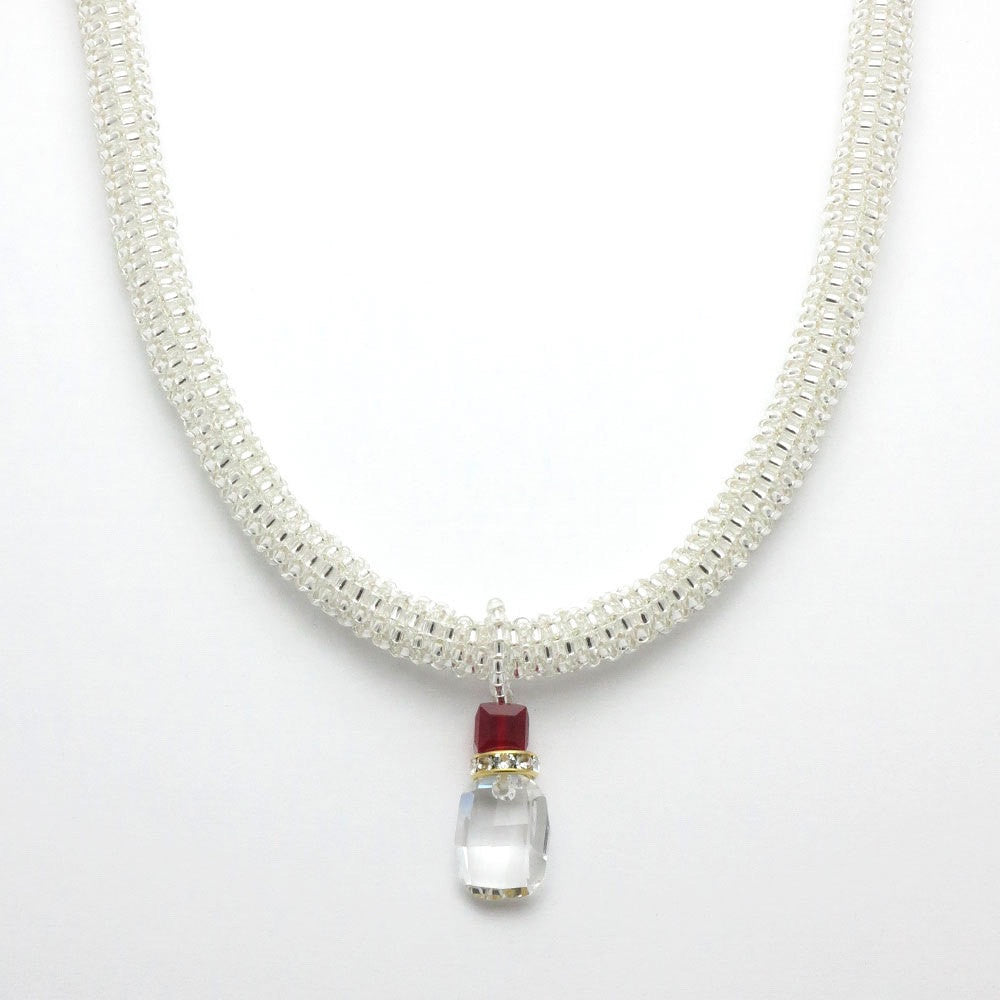 The Audrey Crystal Ruby Choker - RetroJade Jewelry