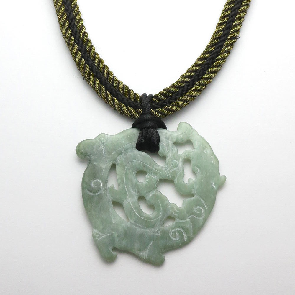 I Am Dragon Jade Necklace - RetroJade Jewelry