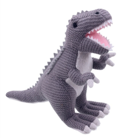 Wilberry Knitted T-Rex -Grey