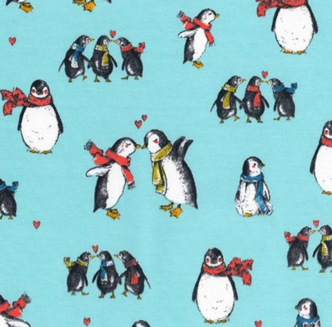 Baggies-Blue Penguin Print - Snuggles and Kisses