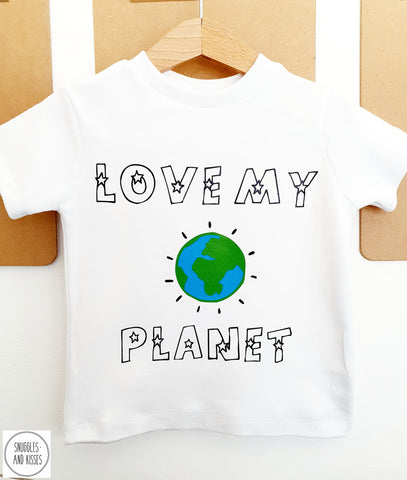 Love My Planet Kids T-Shirt - Snuggles and Kisses