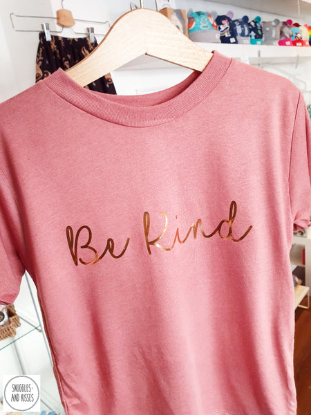 Kids Be Kind T-shirt - Snuggles and Kisses