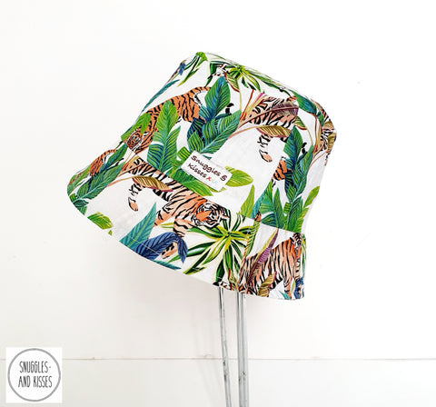 Tiger Print Reversible Sunhat - Snuggles and Kisses