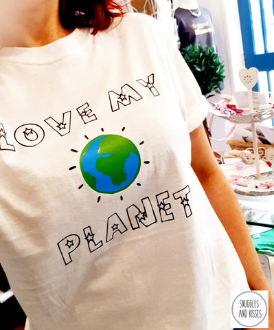 Adult 'Love my Planet' T-shirt