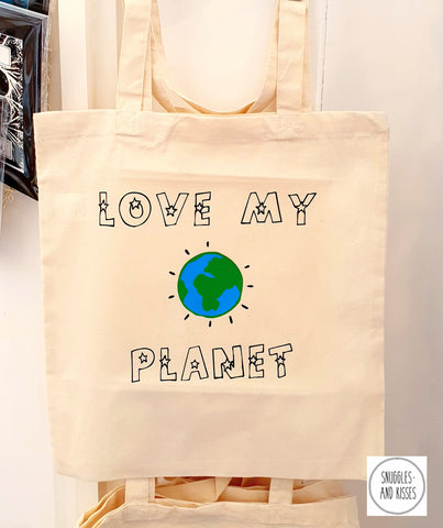 'Love My Planet' Tote Bag
