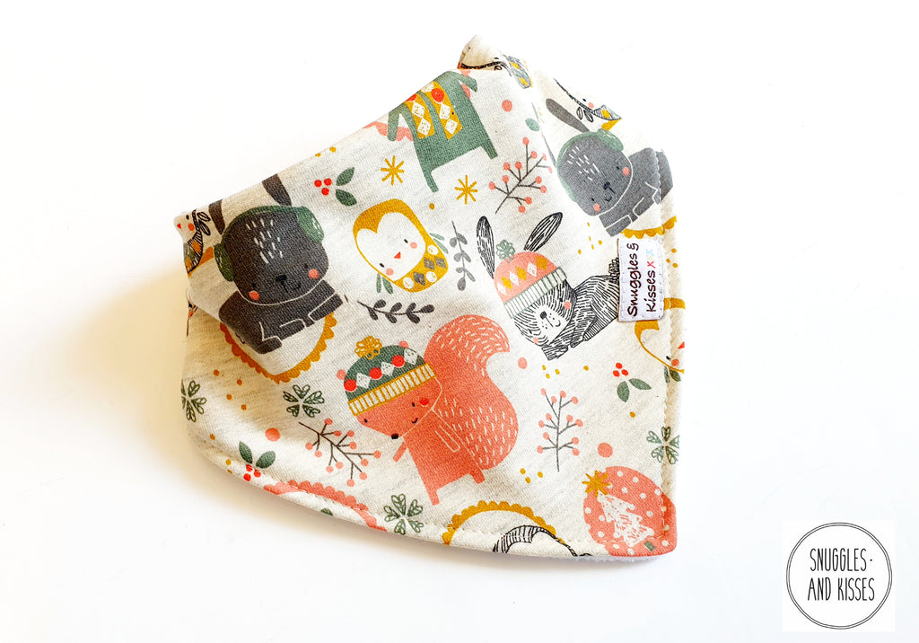 Winter Woodland Dribble Bib NEW FOR A/W2020!!