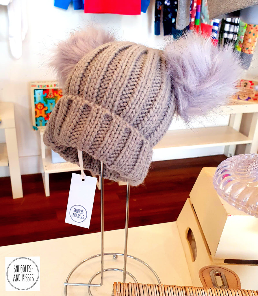 Adults & Kids Double pom pom hat