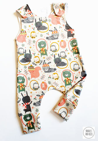 Winter Woodland Print Dungarees NEW FOR A/W2020!!
