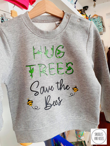 Kids 'Hug Trees, Save the Bees'' Sweatshirt