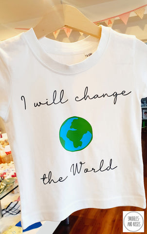 Kids 'I Will Change the World'' T-Shirt