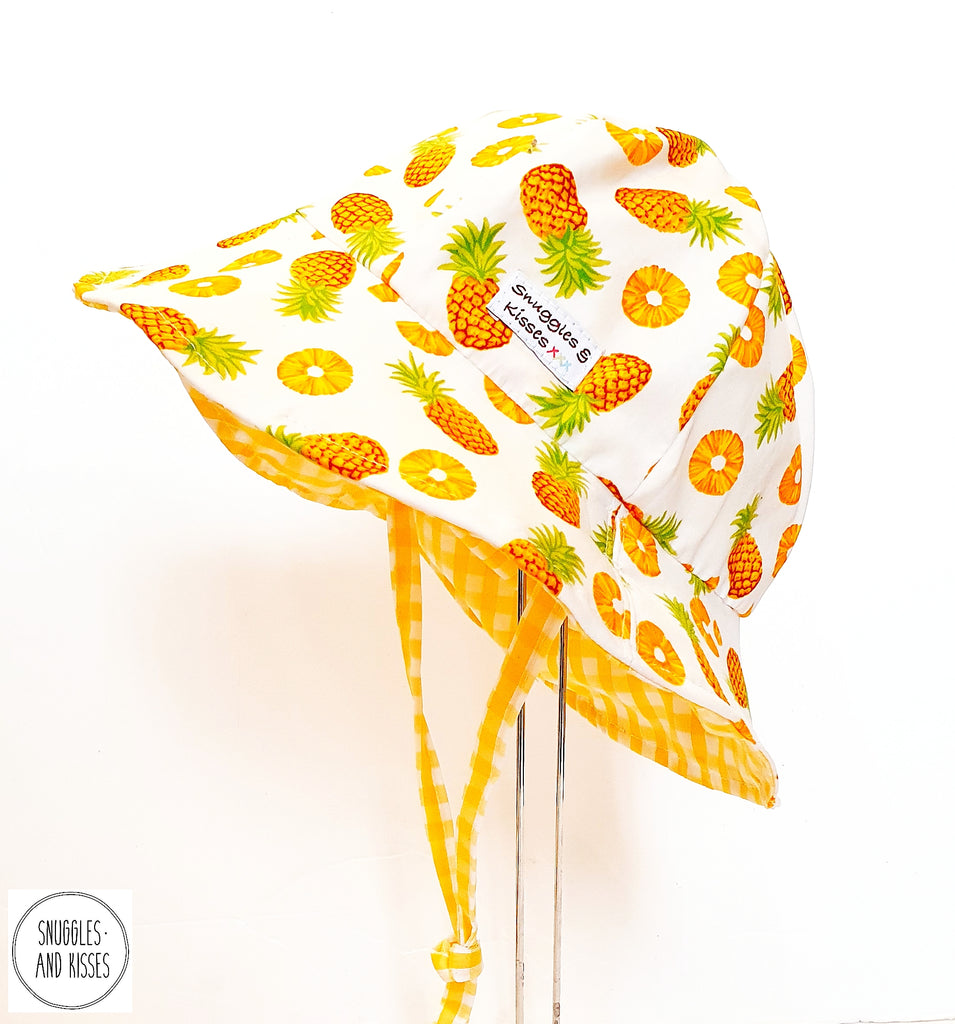 Pineapple Print Reversible Sunhat-Wide Brim Style