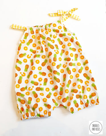 Pineapple Print Shorty Playsuit/Romper