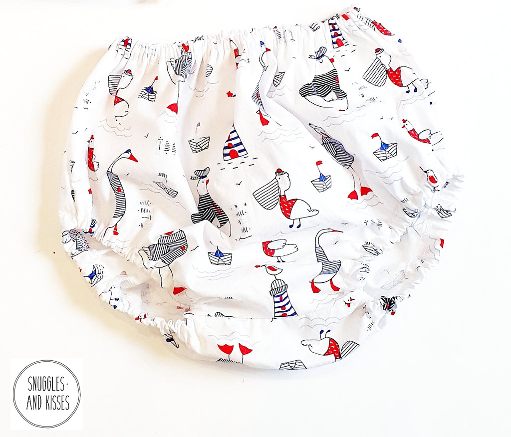 Seagulls Print Cotton Bloomers
