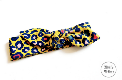 Yellow Leopard Print Hairtie NEW FOR A/W2020!