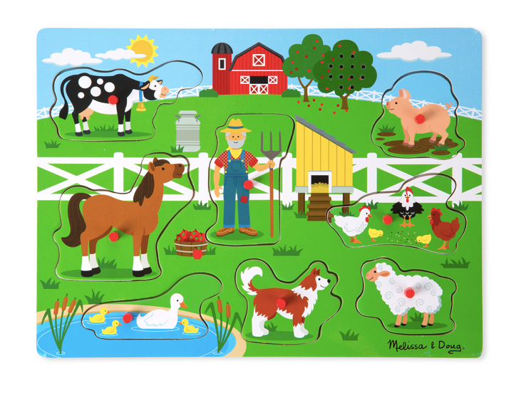 Melissa and Doug Old MacDonald's Farm Sounds Puzzle